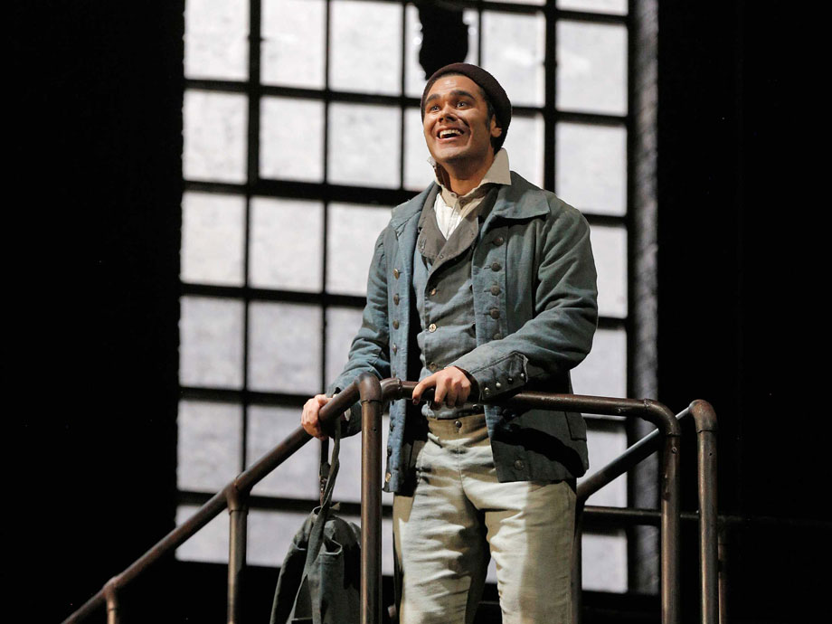 Elliot Madore as Anthony Hope in Sweeny Todd, 2015